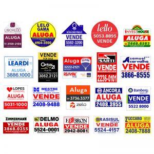 placas para imobiliária